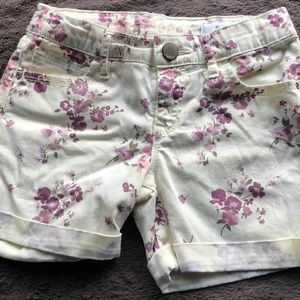 Girls gap floral shorts